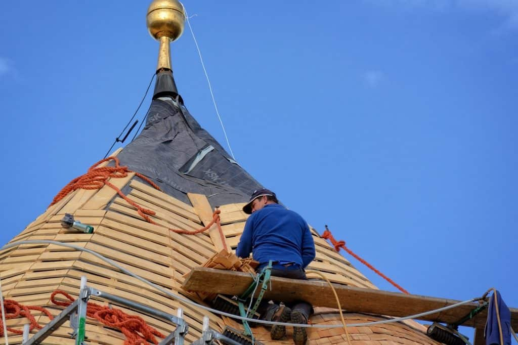 Man doing roof work